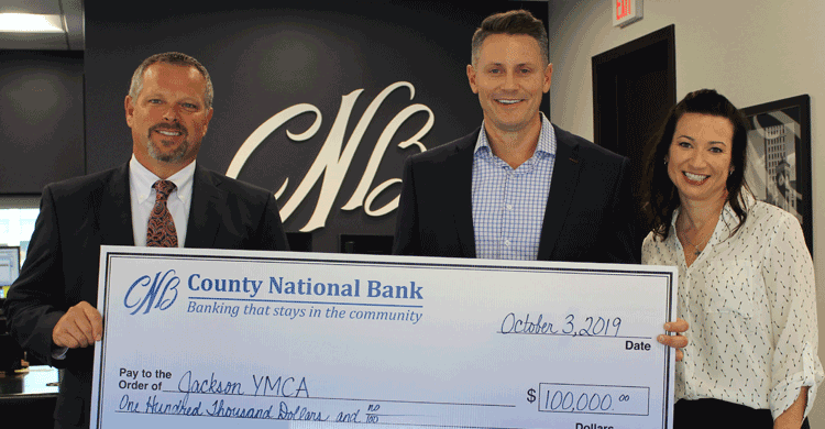 County National Bank Contributes $100,000 to Jackson YMCA Capital Campaign